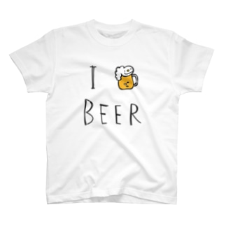 I LOVE BEER by リズムバー Tシャツ