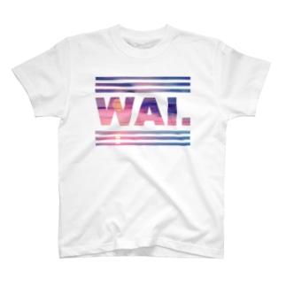 WAIT(サンセットピンク) Tシャツ