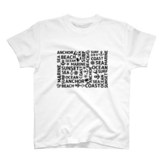 モノクロマリン(白) Tシャツ