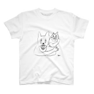 つよいっぬとよわいっぬ Tシャツ