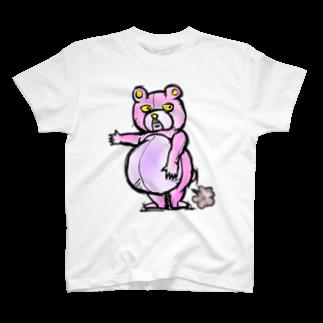 折羽ル子の人食いグマTシャツ