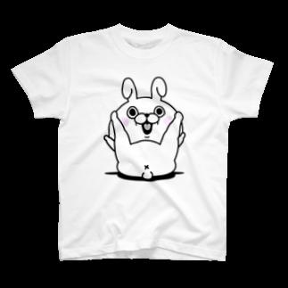 ヨッシースタンプのうさぎ100% X Tシャツ