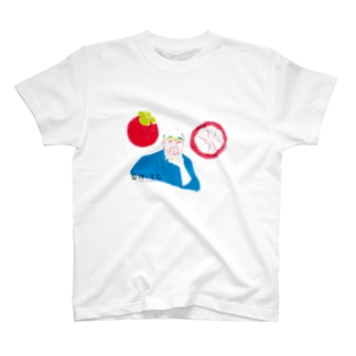 【果物と文人】江戸川乱歩とマンゴスチン Tシャツ