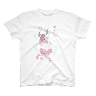 魔法少女と湖の天使 Tシャツ