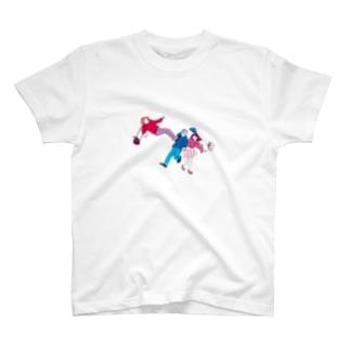 浮気した人にドロップキックするひと Tシャツ