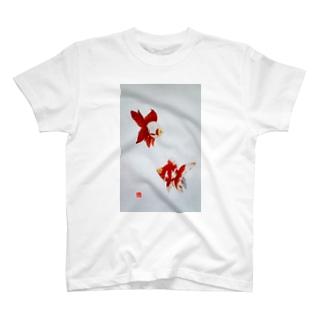 【金魚】更紗琉金 Tシャツ