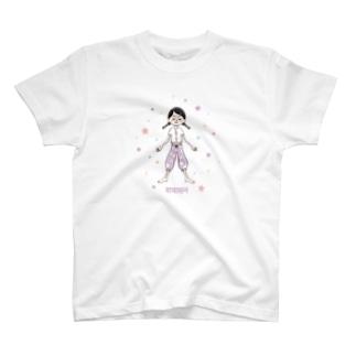 シャヴァーサナの女の子 Tシャツ