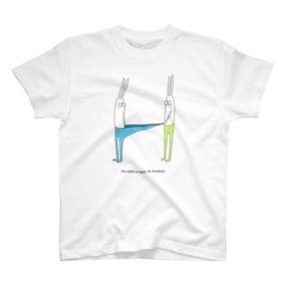 うさぎタイツとおともだち Tシャツ