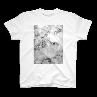 ここだけの銅版画SHOPのうさぎシリーズ2Tシャツ