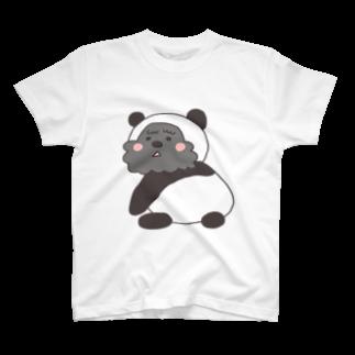 aibomのパンダぼんばーTシャツ