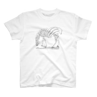 Typography zebra Tシャツ