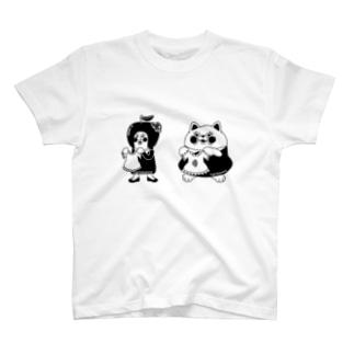 grasoann   ✖️yukosu_furugi  モノトーン  イラストおんりー Tシャツ
