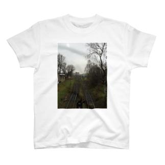 ポーランドの線路 Tシャツ