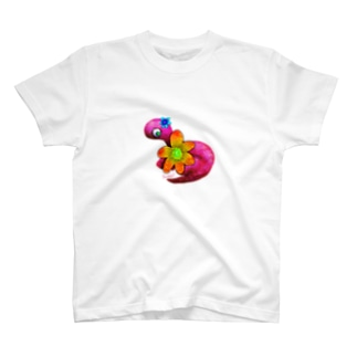 Brachiosaurus -flower- Tシャツ