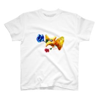 Pteranodon -rose- Tシャツ