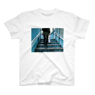 青い階段 Tシャツ