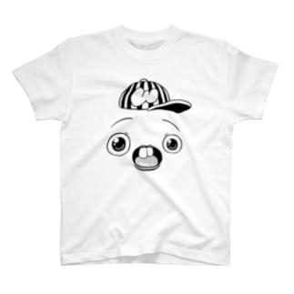 さちおくんの顔の絵 Tシャツ