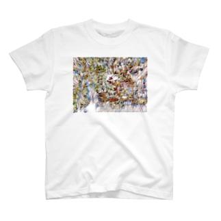 花タイル Tシャツ