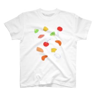 フルーツ杏仁(イロイロ) Tシャツ
