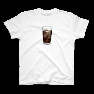 サグラダ・ピュン子のiced coffee(下地なし)Tシャツ