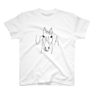 UMA(未確認動物)と見せかけてただの馬Tシャツ Tシャツ