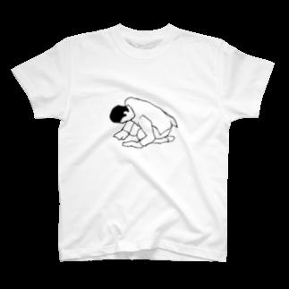 デザインオフィスbard(バード)のスーツ姿で土下座TシャツTシャツ