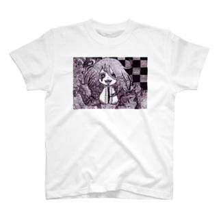 暗い絵本の少女 Tシャツ