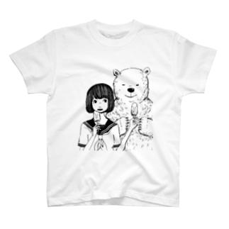シロクマとボブ子 Tシャツ