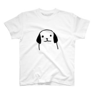 犬の正面Tシャツ Tシャツ