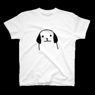 デザインオフィスbard(バード)の犬の正面TシャツTシャツ