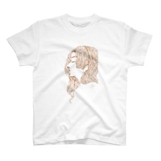 静かにしてほしい女の子 Tシャツ
