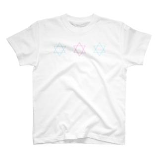 パステル六芒星 Tシャツ