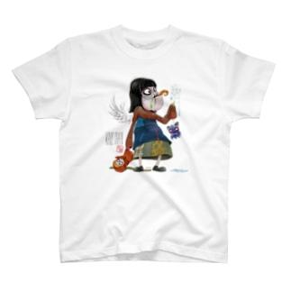 ティムバートン風(背景透過バージョン) Tシャツ