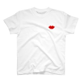 red lip Tシャツ