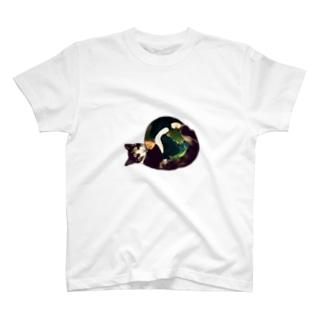 三毛猫の地球(猫キックver) Tシャツ