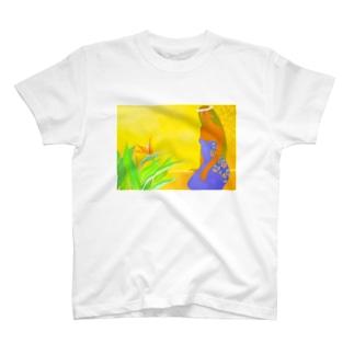 極楽鳥花と共に Tシャツ