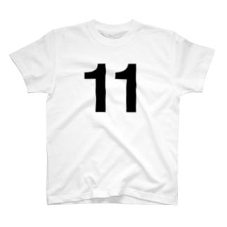 背番号11/ナンバー11/No.11/11才 Tシャツ