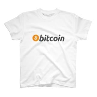 bitcoin ビットコイン 横 各色 Tシャツ
