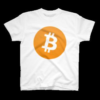 cryptocurrencyのbitcoin ビットコイン マーク 各色 Tシャツ