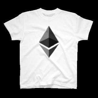 cryptocurrencyのethereum イーサリアム マーク 各色Tシャツ