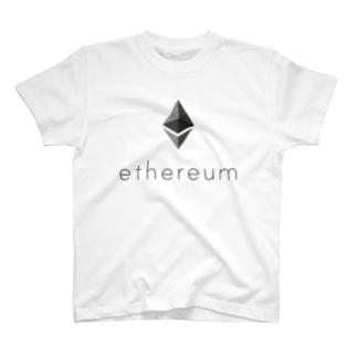 ethereum イーサリアム 縦 各色 Tシャツ