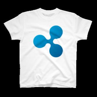 cryptocurrencyのripple リップル マーク 各色Tシャツ