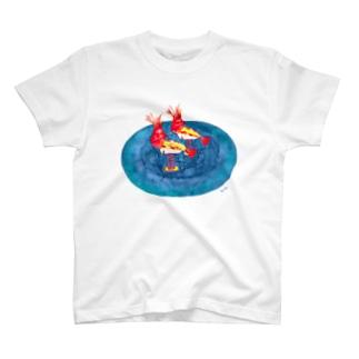 赤エビのスプリング遊具 Tシャツ