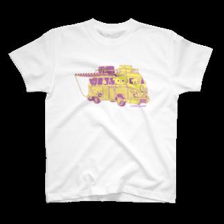 おやまくまオフィシャルWEBSHOP:SUZURI店のドライブおやまくま Tシャツ