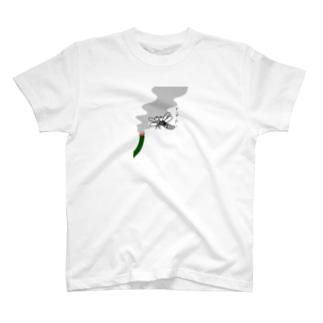 線香をキメる蚊 Tシャツ