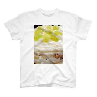 マスカットのケーキ Tシャツ