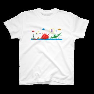 ヤノベケンジアーカイブ&コミュニティのヤノベケンジ《ラッキードラゴンのおはなし》(デザインNo.2)Tシャツ