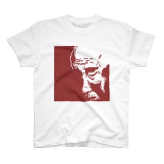 おじいちゃん(赤) Tシャツ