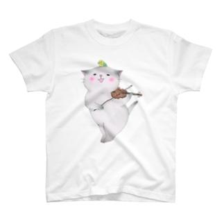 バイオリン猫 Tシャツ