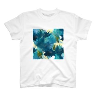 青い花_a Tシャツ